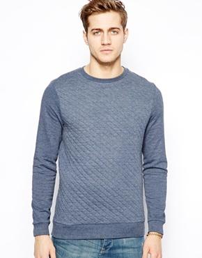 Asos Quilted Sweatshirt Navy   Where to buy & how to wear : quilted sweatshirt - Adamdwight.com