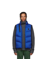 Moncler Black And Blue Down Jacot Vest