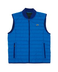 Lacoste Crinkled Water Resistant Quilted Packable Vest