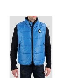 True Grit Puffer Vest Blue