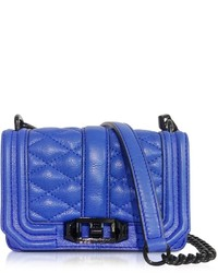 Blue Quilted Leather Crossbody Bag