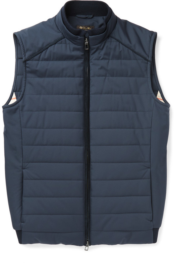 ... Loro Piana Quilted Storm System Shell Gilet ...
