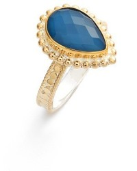 Blue quartz teardrop ring medium 3694834