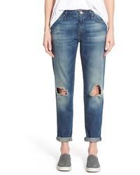 Mavi Jeans Ada Ripped Stretch Boyfriend Jeans