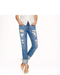 Broken in boyfriend jean in abbott wash medium 318054