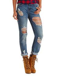 Charlotte Russe Refuge Boyfriend Medium Wash Jeans