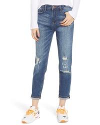 SP BLACK Deconstructed Ripped Boyfriend Jeans