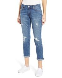 PROSPERITY DENIM Distressed Ankle Boyfriend Jeans