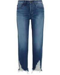 Distressed high rise boyfriend jeans mid denim medium 1251717