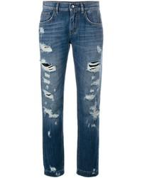 Dolce & Gabbana Ripped Boyfriend Jeans