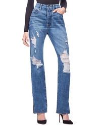 Good American Good Boy High Rise Ripped Boyfriend Jeans