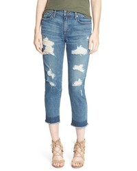Joe's Jeans Joes Collectors Sawyer Destroyed Crop Slim Boyfriend Jeans