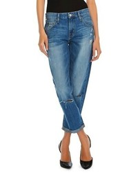 Mossimo Boyfriend Crop Jean Destroyed Medium Blue Tm