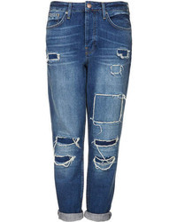 Topshop Petite Moto Hayden Authentic Loose Fit Boyfriend Jeans With Rip And Repair Detail Love These Shop All Boyfriend Jeans