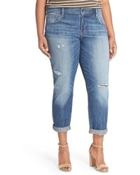 Lucky Brand Plus Size Reese Distressed Boyfriend Jeans