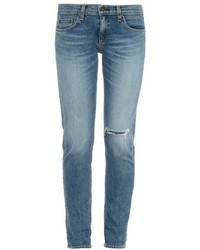 Rag and Bone Rag Bone Dre Slim Cotton Blend Denim Boyfriend Jeans