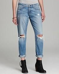 rag & bone/JEAN Jeans Boyfriend Jean With Holes In Moss