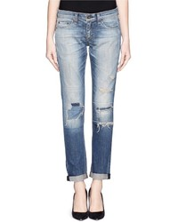 Rag and Bone Rag Bonejean The Dre Distressed Slim Fit Boyfriend Jeans