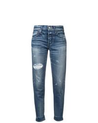 Moussy Vintage Ripped Boyfriend Jeans