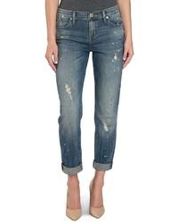 Rock & Republic Splatter Boyfriend Jeans