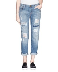 Current/Elliott The Fling Repaired Ripped Jeans