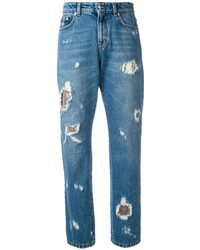 Versus Distressed Boyfriend Jeans