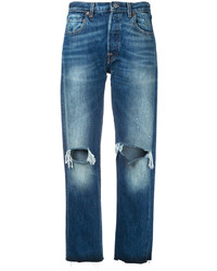 Levi's Vintage Clothing Ripped Boyfriend Jeans