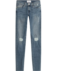 Frame Denim Distressed Jeans De Jeanne Skinny Jeans