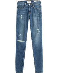 Frame Denim Le Skinny De Jeanne Distressed Jeans