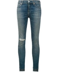 Citizens of Humanity Distressed Cropped Skinny Jeans