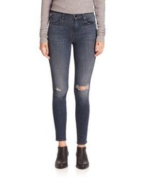J Brand Maria High Rise Distressed Skinny Jeans