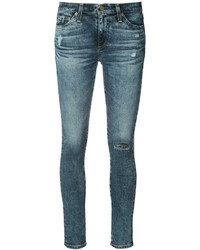 AG Jeans Skinny Distressed Jeans