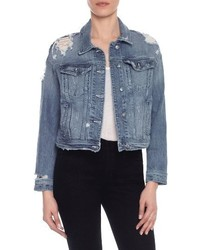 Taylor hill x joes dolman distressed denim jacket medium 4343722