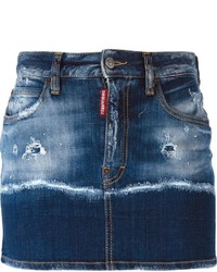 Dsquared2 Acid Denim Mini Skirt