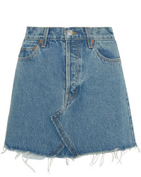 Originals distressed denim mini skirt blue medium 4393247