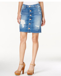 Button up ripped denim skirt medium 572935