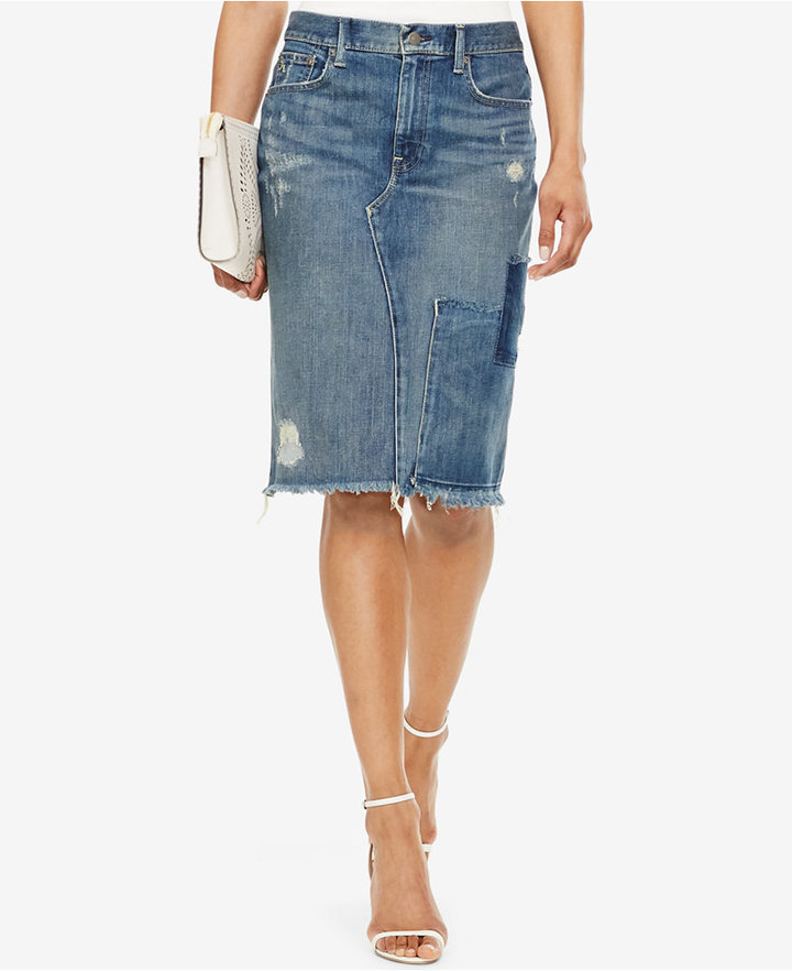 Polo Ralph Lauren Denim Pencil Skirt | Where to buy & how to wear
