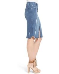 92fb4f93d James Jeans Destroyed Denim Skirt, $158   Nordstrom   Lookastic.com
