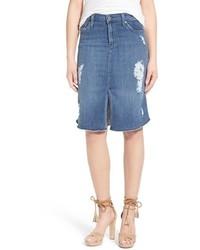James Jeans Destroyed Denim Skirt