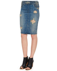 Rta denim river tiered denim skirt destroyed soil medium 241989