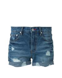GUILD PRIME Destroyed Denim Shorts