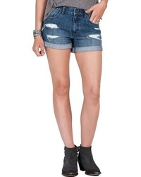 Distressed denim shorts medium 817061