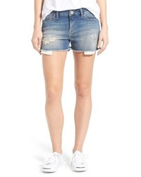 Emily ripped cutoff denim shorts medium 6438603