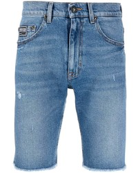 VERSACE JEANS COUTURE Frayed Denim Shorts