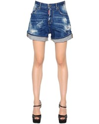 Dsquared2 Kawaii Washed Destroyed Denim Shorts