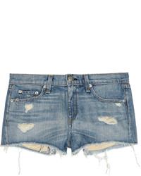 Rag and Bone Rag Bone Mila Distressed Denim Shorts