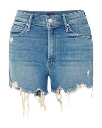 Mother Rascal Distressed Denim Shorts