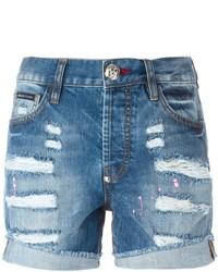 Ripped denim shorts medium 437123