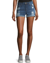 Joe's Jeans Rolled Cuff Distressed Denim Shorts