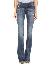 Denim distressed flare jeans medium 529391